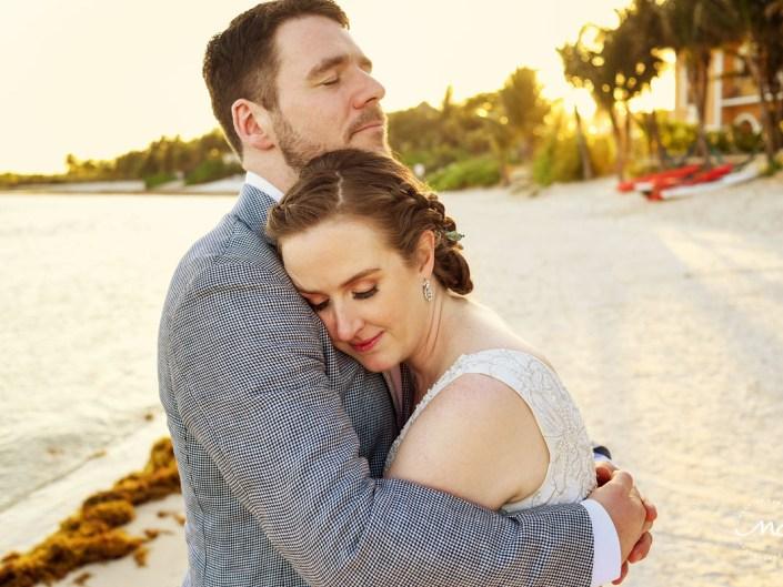 Bride and groom beach portraits closeup. Hacienda del Mar wedding in Mexico by Martina Campolo Photography