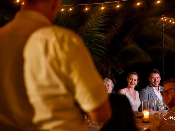 Wedding reception moment at Hacienda del Mar, Riviera Maya, Mexico. Martina Campolo Photography