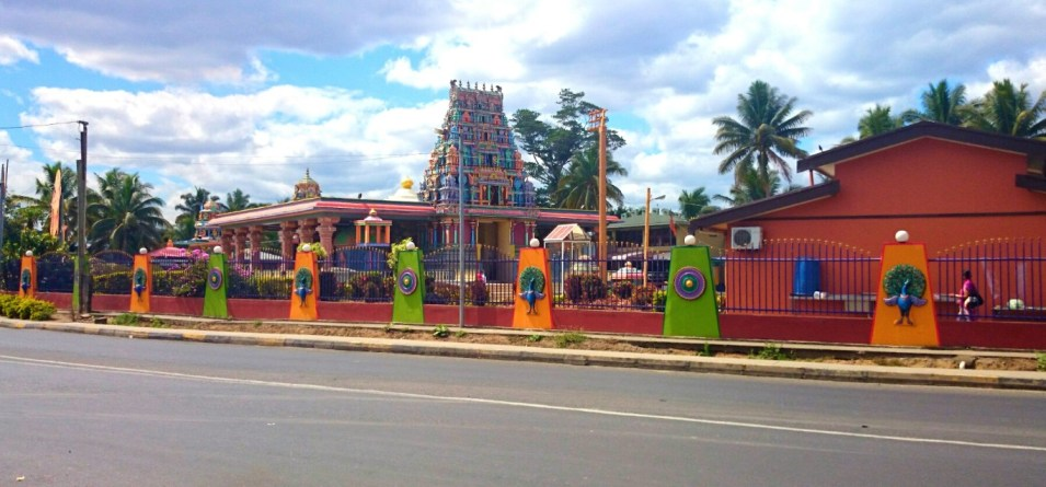 The view across Queen's Road to Sri Siva Subramaniya Temple, Nadi