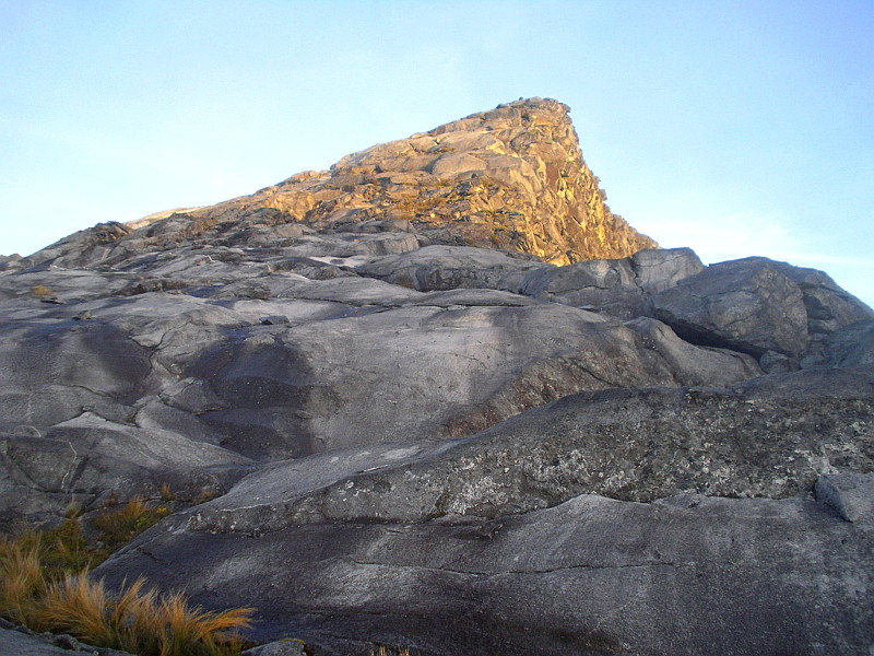 Low's Peak, Mt Kinabalu, in the dawn sunlight