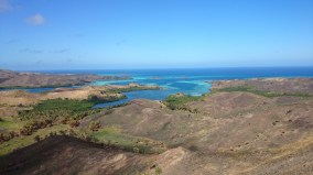 The view from the top of Nacula Island looking down towards Nabua and Safe Landing