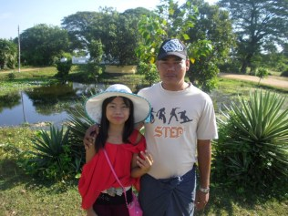 My tour guides, Amuta and her uncle, near Pyay