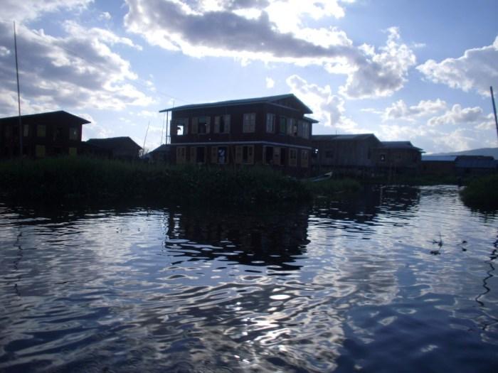 A fish farm on Inle Lake
