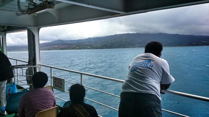 Arriving into Nabuwalu on the ferry, on Vanua Levu, Fiji.