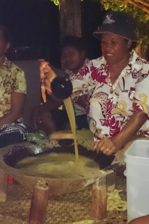 Mixing the kava