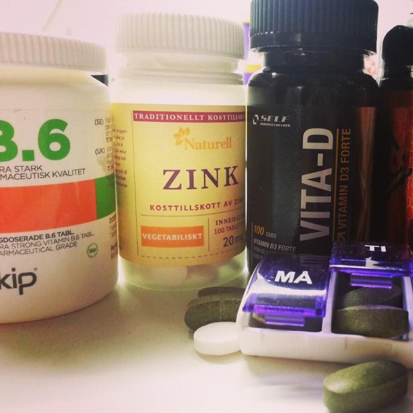 LCHF lavkarbo lowcarb vitaminer vitamin D B6 zink hår hud och naglar vitamin D inflammation Ursobol MMSports