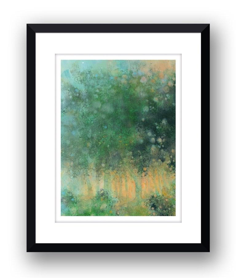 morning woodlandMartin Allan artist and printmaker prints art images sunset framed print