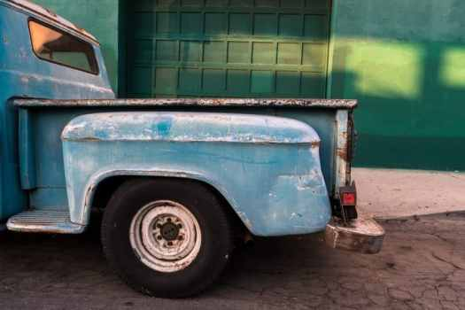 Blue Pick-up Truck by Ibarionex Perello