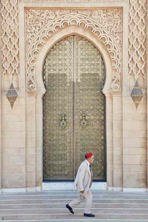 Man in Fez at Al-Hassan Mosque