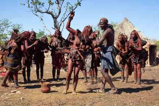 Himba Dancing in Group