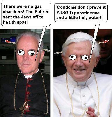 Williamson and the Shoah and Pope Benedict XVI, cartoon
