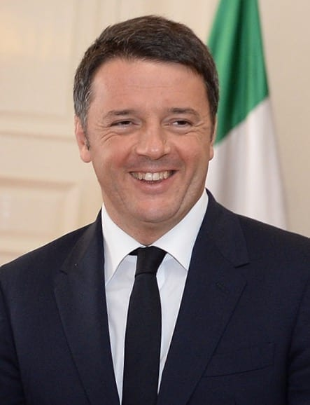 Matteo Renzi en el 2015. Fuente: Gobierno de Chile