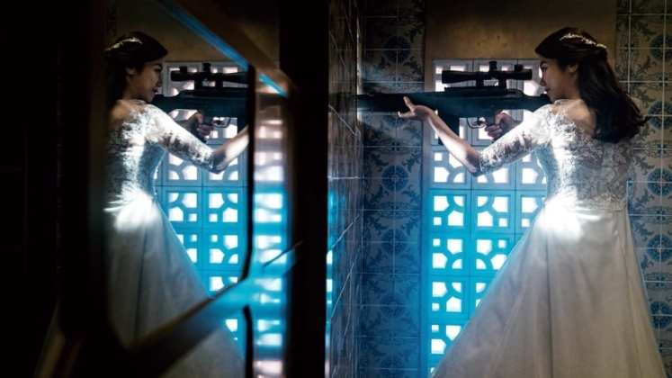 "Image from the movie ""La villana"""