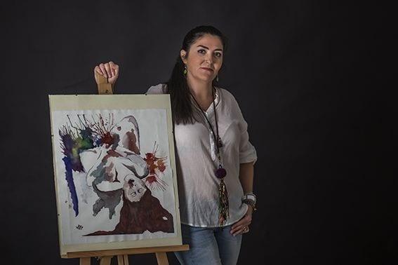 La artista sevillana Mercedes Naranjo inaugura su última colección Áncora en Barcelona
