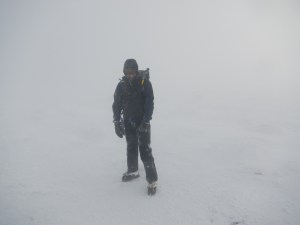 It wasn't far off a total white out at the summit