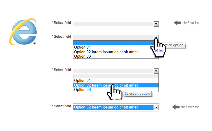 Custom drop-down select tag using only CSS – Martin Dubé – internet