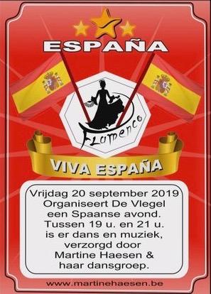 Spaanse avond brasserie De Vlegel