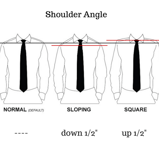 Image result for sloped shoulders vs. square shoulders