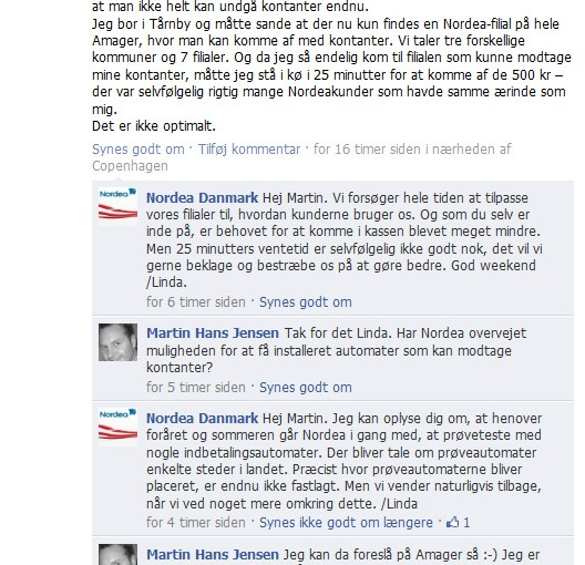 Nordea på Amager – Hvor kan man indbetale kontanter? Skal Amager være den første kontantløse ø i verden?