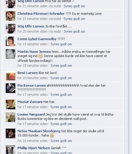 Bankfejl på Facebookside:-)