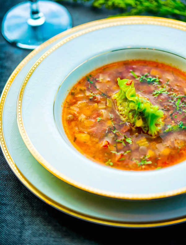 Joie Tomato Broth with Garbanzo Beans