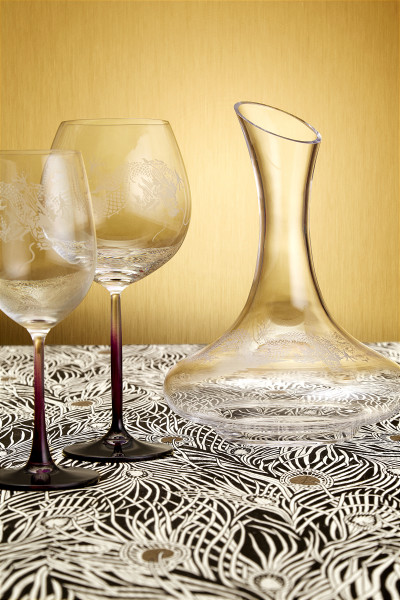 Dragon Decanter & Wine Glasses