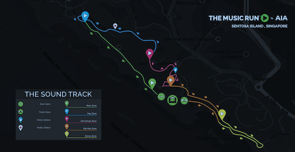 The Music Run 2015 Route