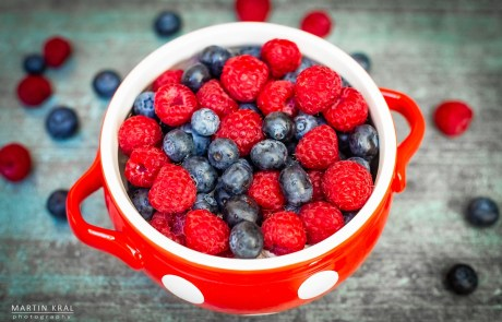 Food photography: Borůvky a maliny | Blueberries and Raspberries