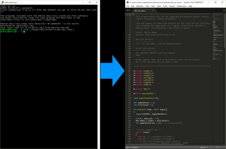 PuTTY to Sublime Text via rsub Demo