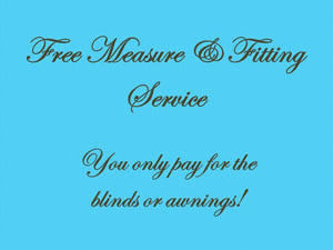 free blinds measuring and fitting service