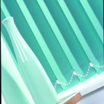 mint green vertical blinds
