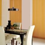 vertical blinds yellow