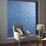 navy blue pleated blind
