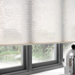 white pleated blinds northampton