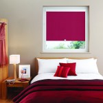 red perfect fit blinds