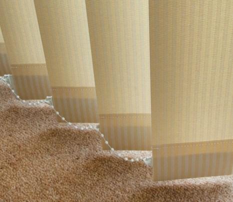 vertical cream striped blinds