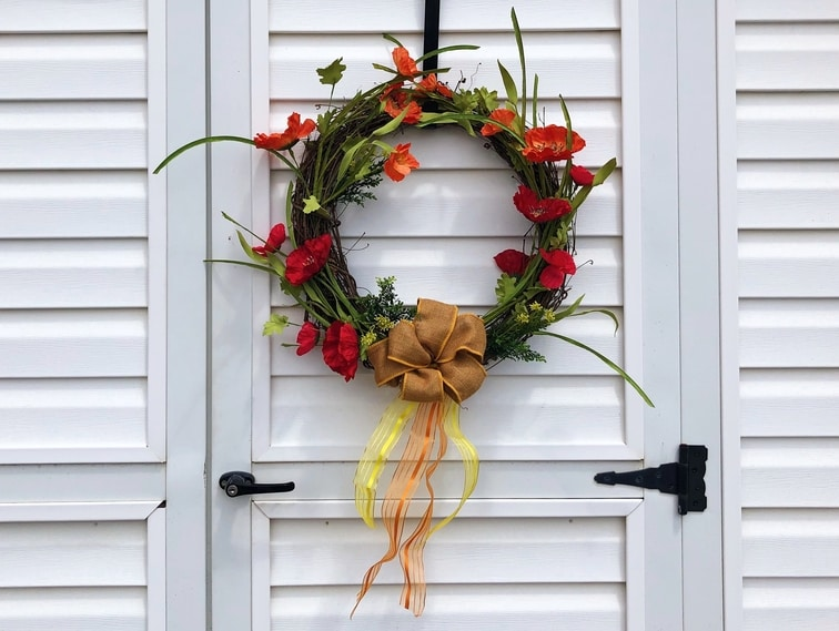 Poppy Wreath - Etsy - Custom Decor - Martin's Home & Garden - Murfreesboro TN