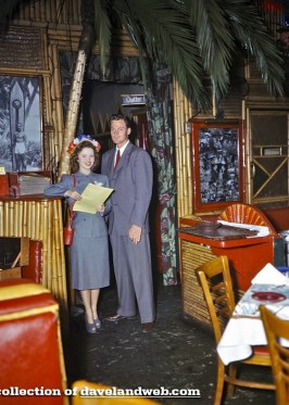 "Shirley Temple with husband John Agar at ""The Tropics"" in the late 1940s"