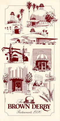 brown derby menu cover