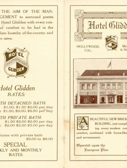 Glidden Hotel, Hollywood Blvd (later, Christie Hotel)