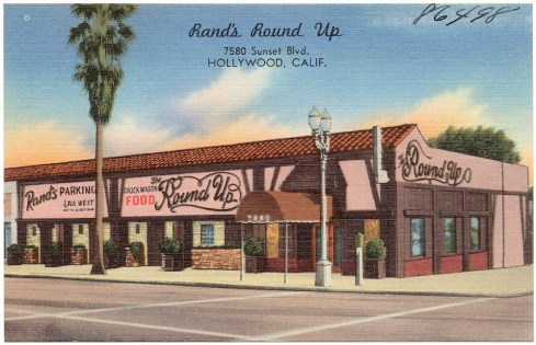 Rand's Round Up restaurant, 7580 Sunset Blvd (click to enlarge)