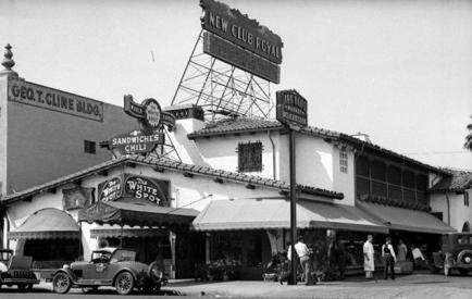 The White Spot Café - 5357 Wilshire Boulevard, near La Brea.