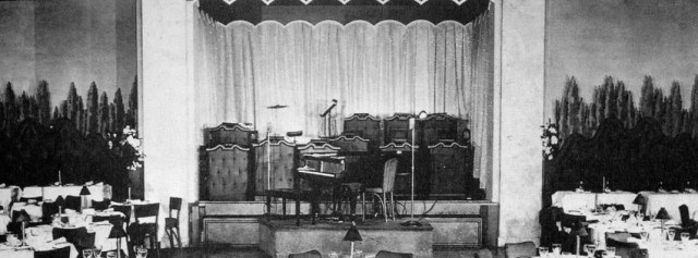Ciro's bandstand, circa 1940s