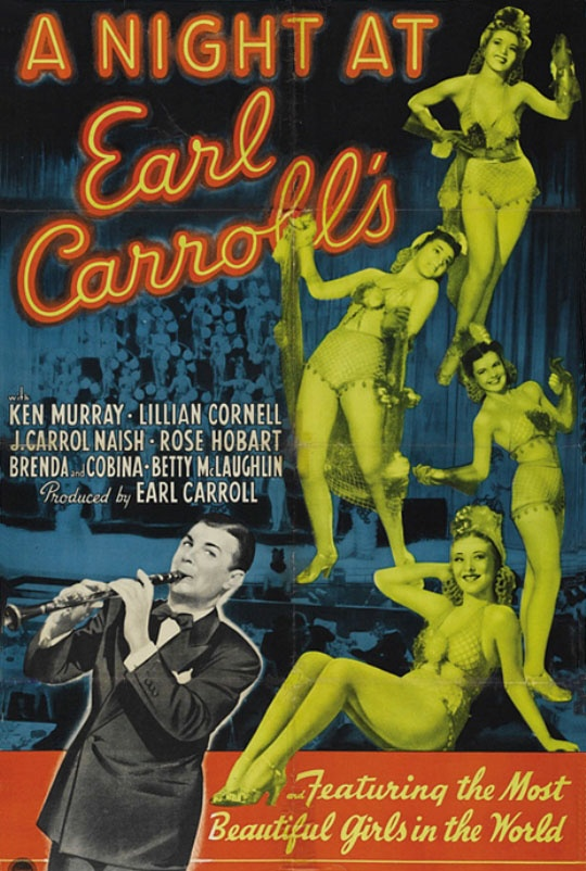 "Movie ""A Night at Earl Carroll's"" (Paramount Pictures, 1940)"