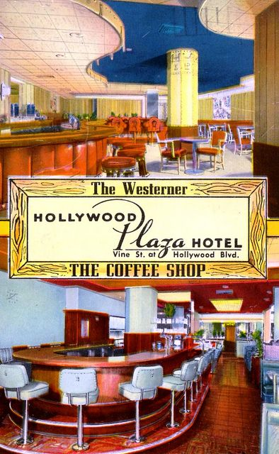 Advertisement for Hollywood Plaza Hotel, Hollywood.