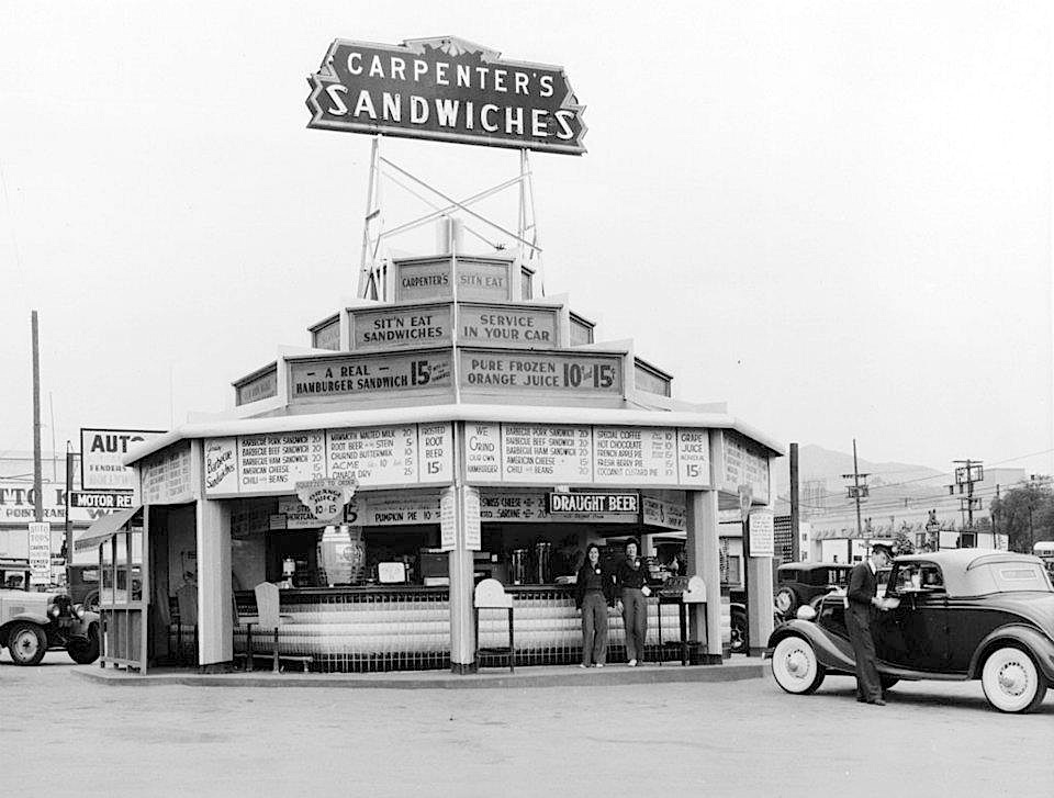 Carpenter S Sandwiches Drive In At Sunset And Vine