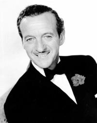 David Niven at the Garden of Allah hotel