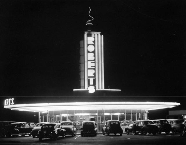 Roberts drive-in restaurant, Burbank, 1940
