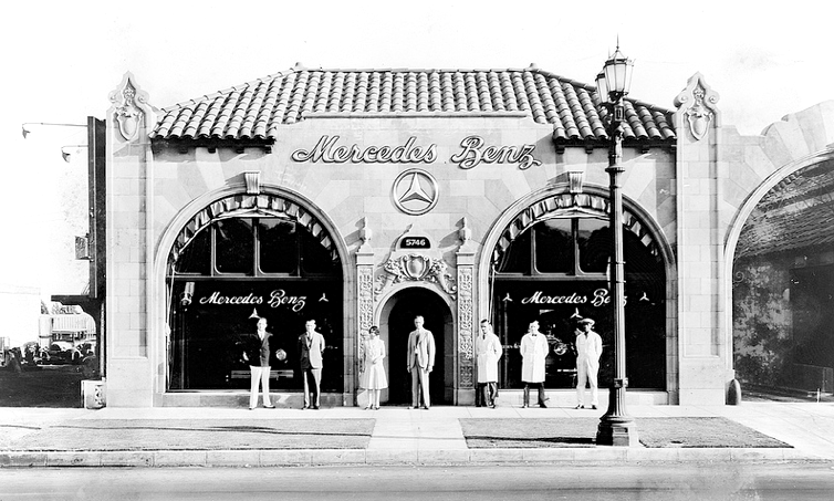 Los Angeles Dealership For Mercedes Benz, Circa 1920s