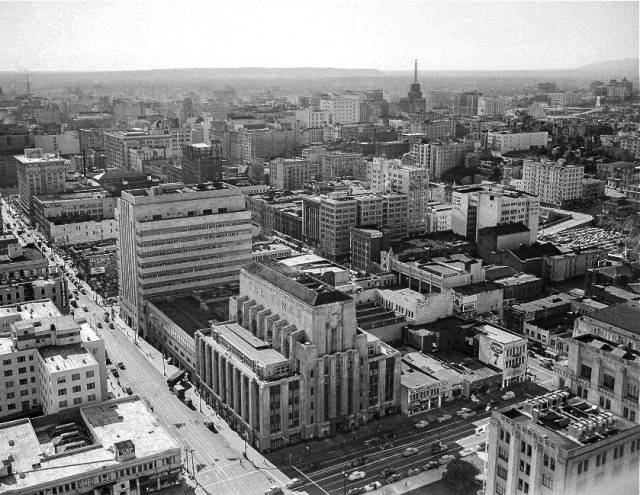 Jan. 12, 1951 Downtown LA from top of City Hall